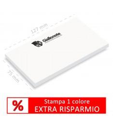 Memo adesivi Giallonote BASIC 127x75mm stampati ad un colore con EXTRA SONTO.