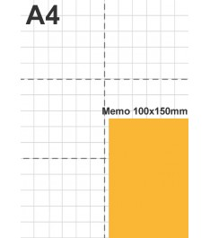 Dimensioni reali post-it 100x150mm formato verticale