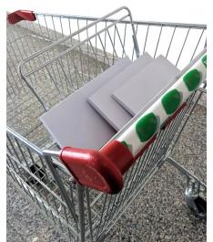 Foglietti adesivi proteggi maniglia per carrello della spesa - COVID-19