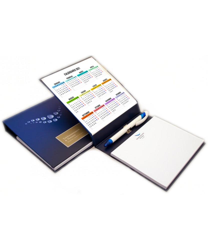 Block notes Business Pad con fogli riposizionabili 145x100mm, copertina rigida e penna