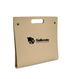 Portadocumenti personalizzato con logo giallonote