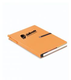 Memo carnet taccuino arancione con logo giallonote