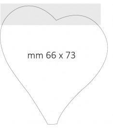 Post it sagomato personalizzato a forma di cuore - 66x73mm