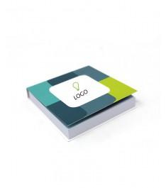 Memo adesivi personalizzati 69x75 mm con copertina morbida