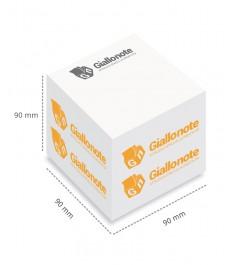 cubo appunti 90x90x90 mm con fogli non adesivi con misure