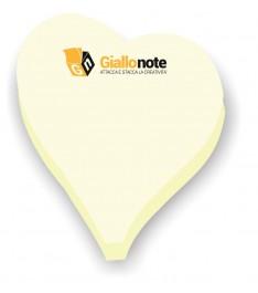 Post it sagomati a forma di cuore 66x73mm in carta gialla