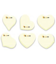 Post it sagomati a forma di cuore in carta gialla