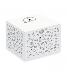 cubo appunti 90x90x90 mm con fogli non adesivi personalizzazione bottega alimentare