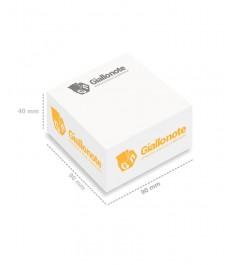 cubo appunti memo non adesivi 90x90x40mm misure