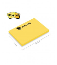 post-it 3m 102x75mm giallo fluo