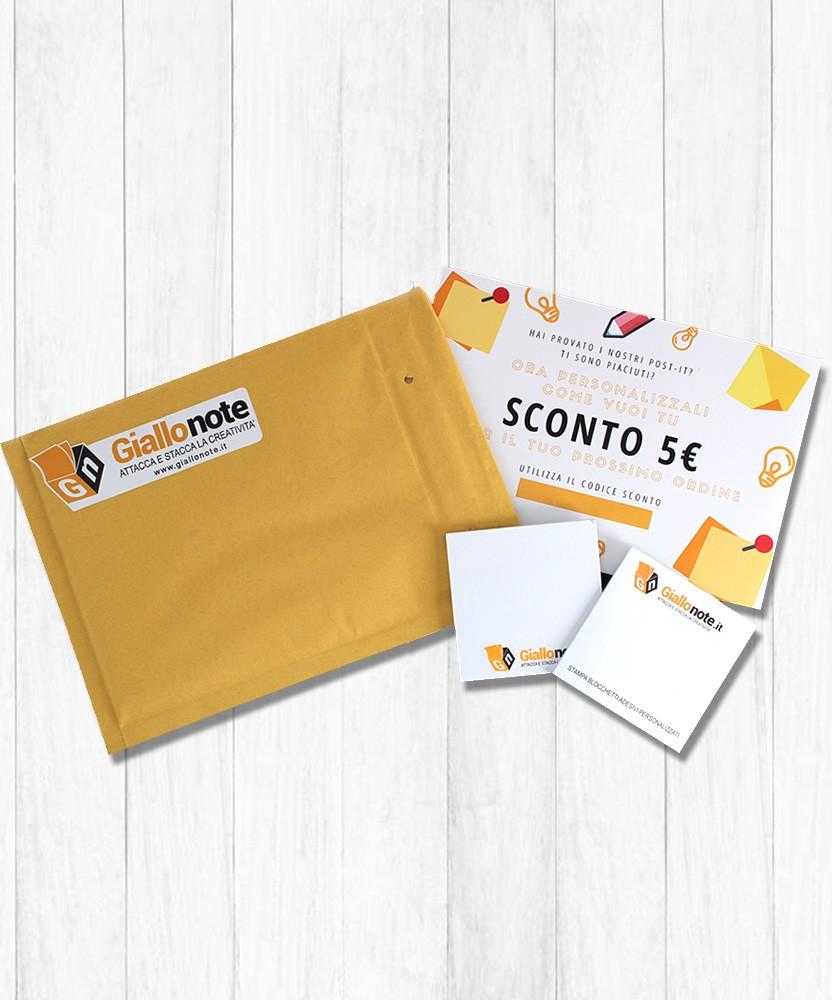 kit campione post-it giallonote con buono sconto