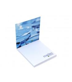 memo adesivi personalizzati 75x75mm con copertina stampa 1-4 colori giallonote aperto
