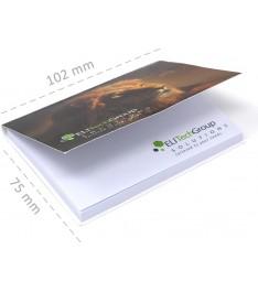 misure memo adesivi personalizzati 102x75 con copertina giallonote stampa 1-4 colori