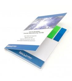 mini organizer personalizzabile memo adesivi 69x75 bandierine segnapagina aperto 2