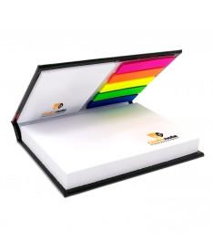 mini organizer personalizzato con copertina 2 memo adesivi bandierine segnapagina