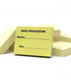 mini memo adesivi 50x40 personalizzati data produzione