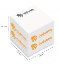 misure cubo memo adesivi personalizzati700 fogli 70x70x70mm giallonote