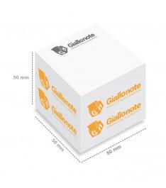 cubo memo adesivi personalizzati 50x50x50 stampa 1 colore misure