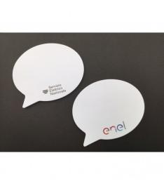 Memo adesivi sagomati 100 x 100 mm personalizzati nuvoletta