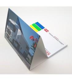 calendario tavolo personalizzato 135x153 stampa 4 colori retro