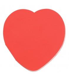 blocchetto memo adesivi 80x80 In Love forma cuore carta rossa