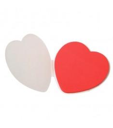 blocchetto memo adesivi 80x80 In Love forma cuore aperto