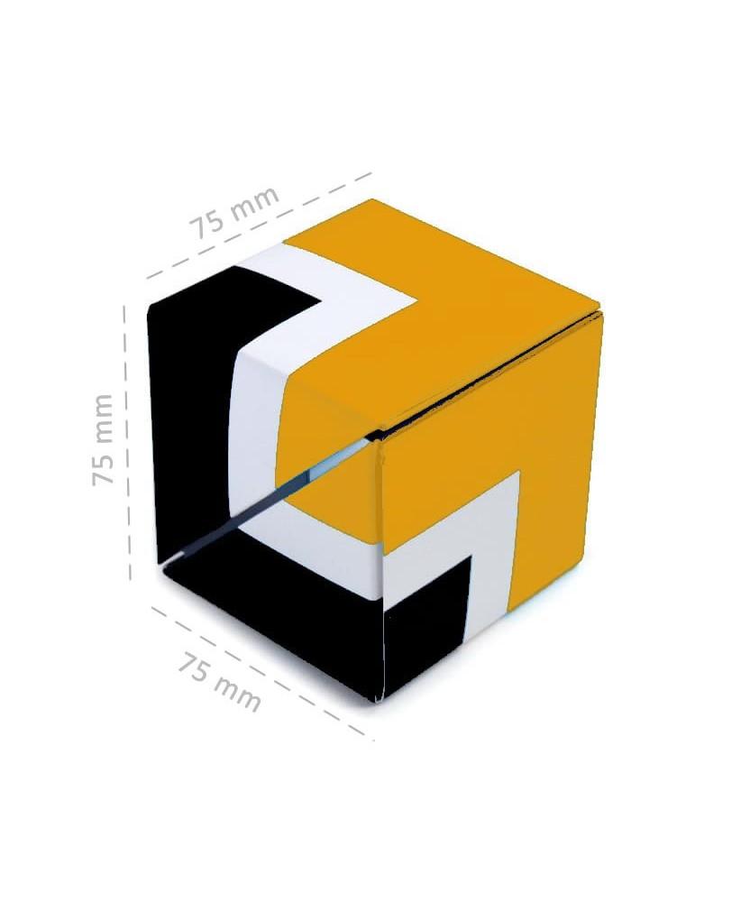 Dado multifunzione personalizzabile Giallonote con memo adesivi e segnapagina