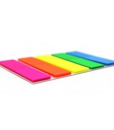 Bandierine segnapagina 5 colori fluo