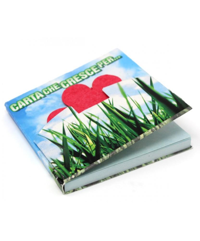 Memo adesivo personalizzato EarthPaper con copertina e seme da piantare
