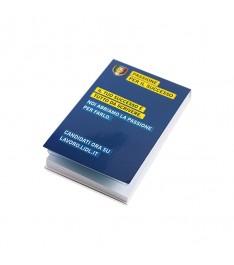 mini organizer personalizzato 50x75 copertina memo adesivi bandierine segnapagina chiuso