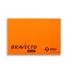 Memo elettrostatico 100x70 personalizzato arancione bravecto