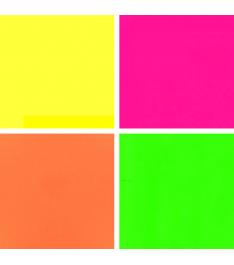 Colori fluo disponibili per i blocchetti elettrostatici