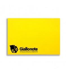 memo elettrostatico personalizzato 100x70  con copertina giallonote giallo