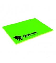 memo elettrostatico personalizzato 100x70  con copertina giallonote verde