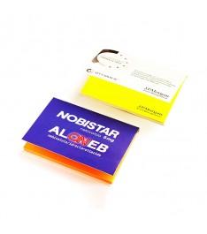 memo elettrostatico personalizzato 100x70  con copertina giallonotealto