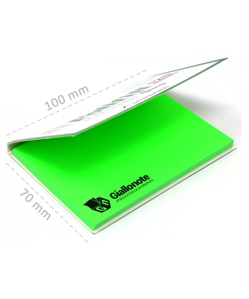dimensioni memo elettrostatico personalizzato 100x70  con copertina aperta