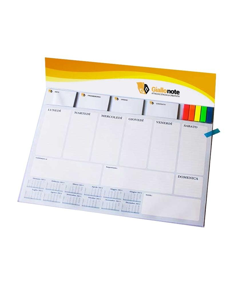Planning settimanale da tavolo personalizzato WorkDaily Giallonote