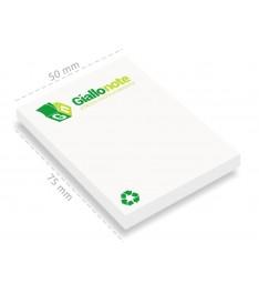 memo adesivi carta riciclata personalizzati 50x75 stampa 1-4 colori