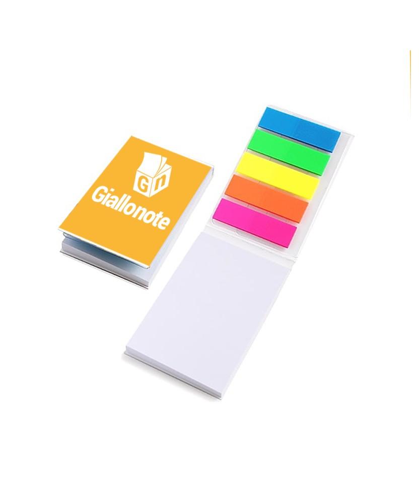 mini organizer personalizzato 50x75 copertina memo adesivi bandierine segnapagina