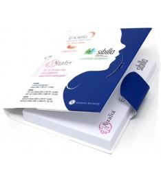 Memo adesivo 102x75mm con penna a sfera e copertina personalizzata.