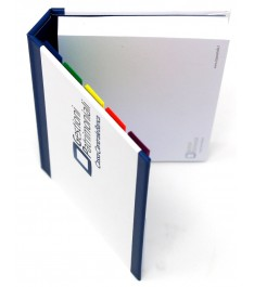 Esempio realizzazione memo adesivi con copertina eprsonalizzata cartonata 102x75mm