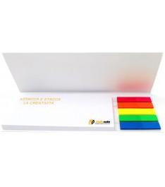 Memo adesivi 125x75mm combinati con copertina e bandierine segnapagina