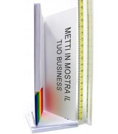 Memo adesivi 125x75mm combinati con copertina e bandierine segnapagina, completamente personalizzati
