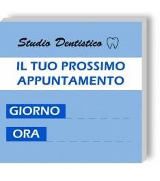 Esempio di stampa memo personalizzato studio dentistico