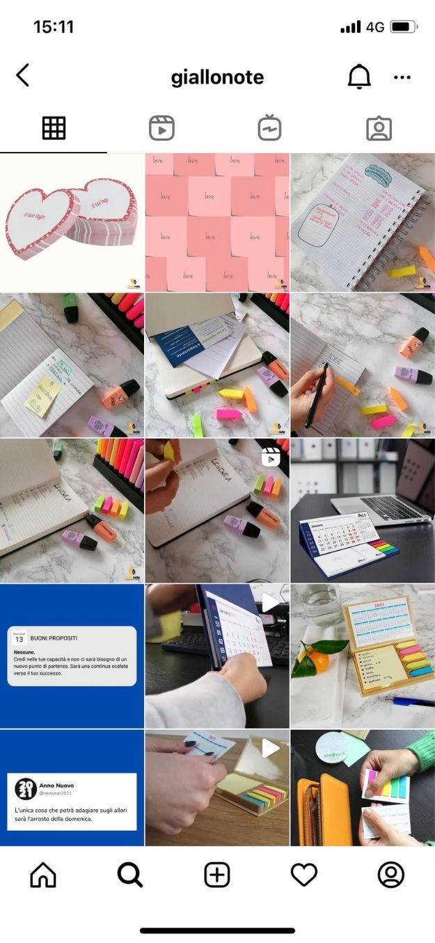 profilo instagram giallonote
