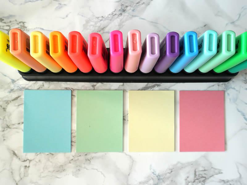 post it colori pastello