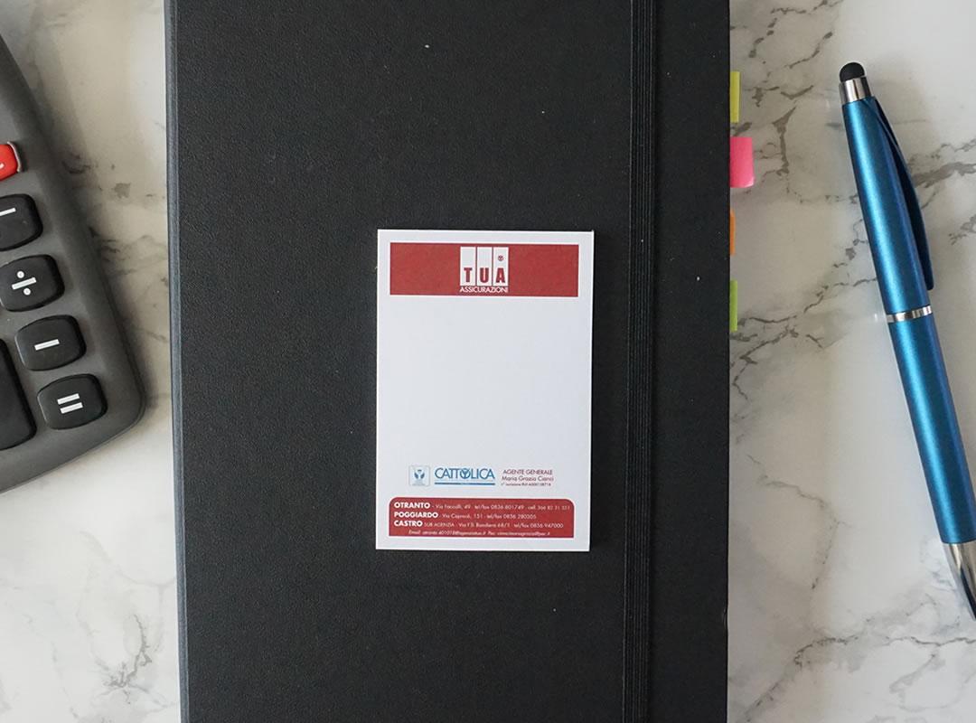 memo adesivo 50x75 mm biglietto da visita