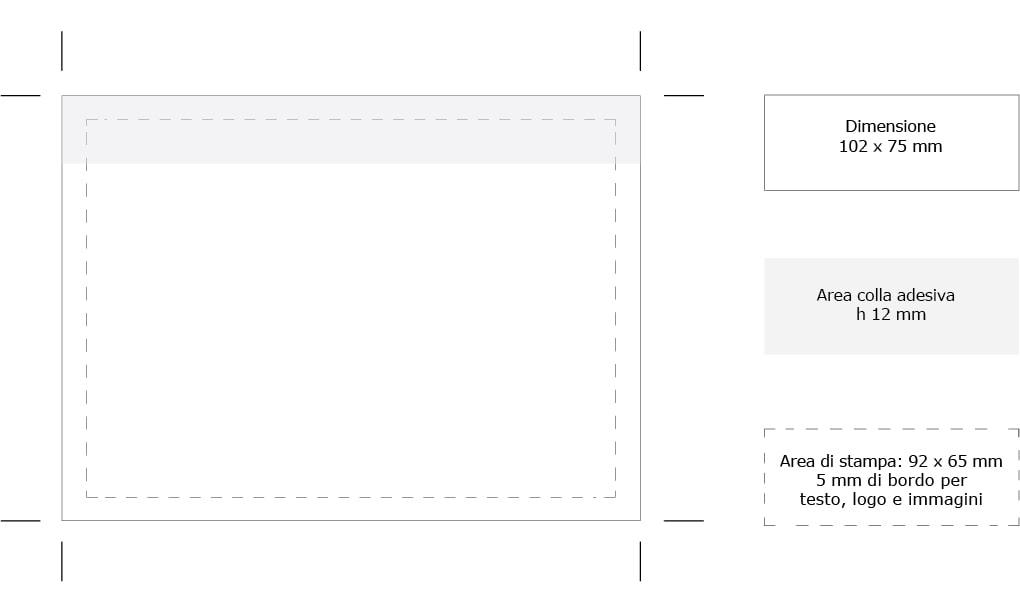 area adesivo stampa memo Handy Jotting 102x75