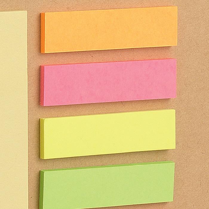Bandierine segnapagina in carta colori pastello