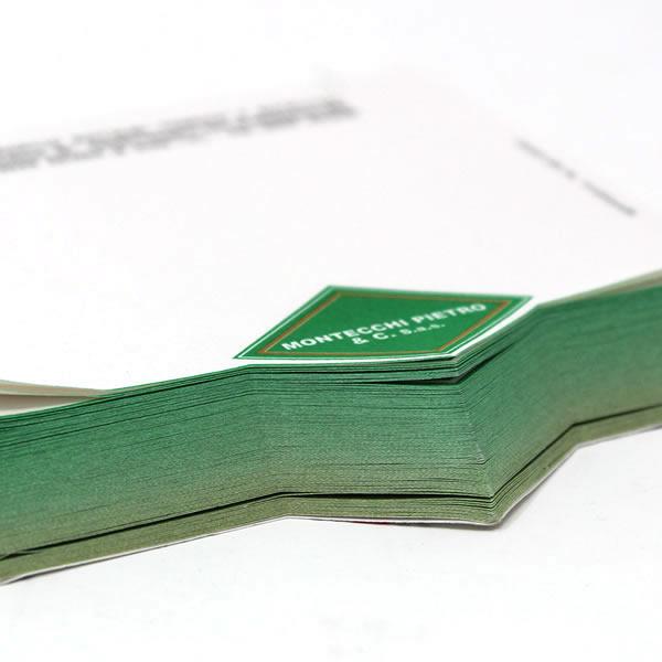 blocchetto appunti con forma freccia